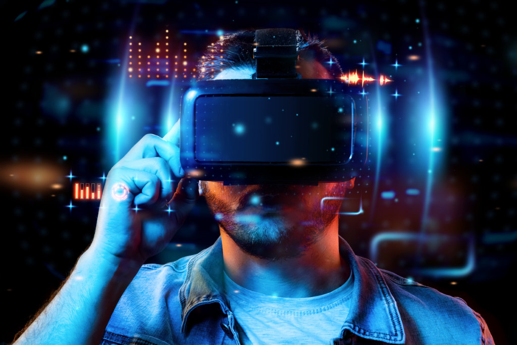 realtà virtuale visore