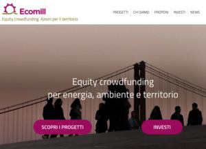Ecomill piattaforma equity crowdfunding
