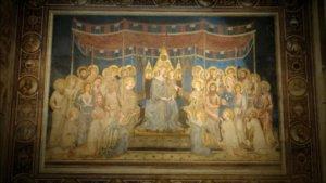 Illuminazione della Maesta di Simone Martini a Siena
