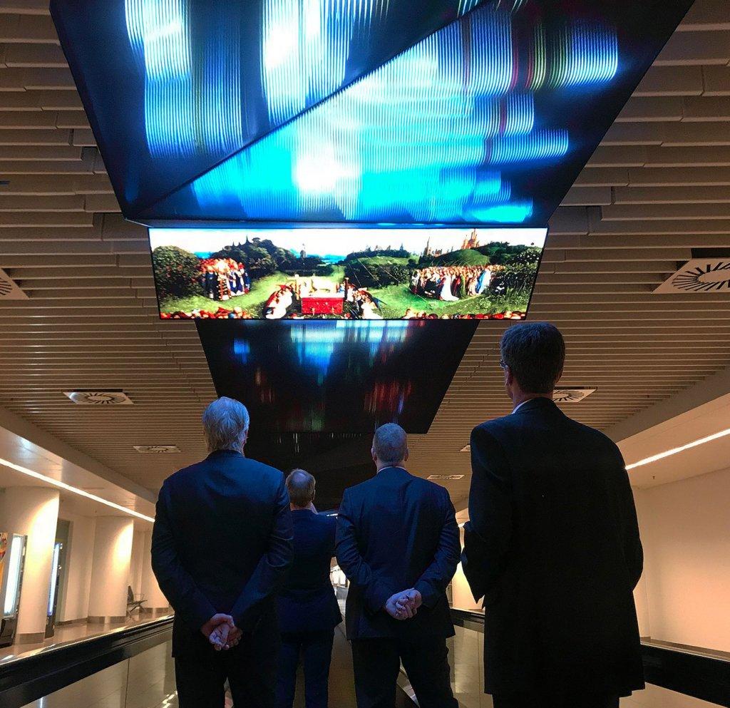 Installazione multimediale per l'aeroporto di Bruxelles