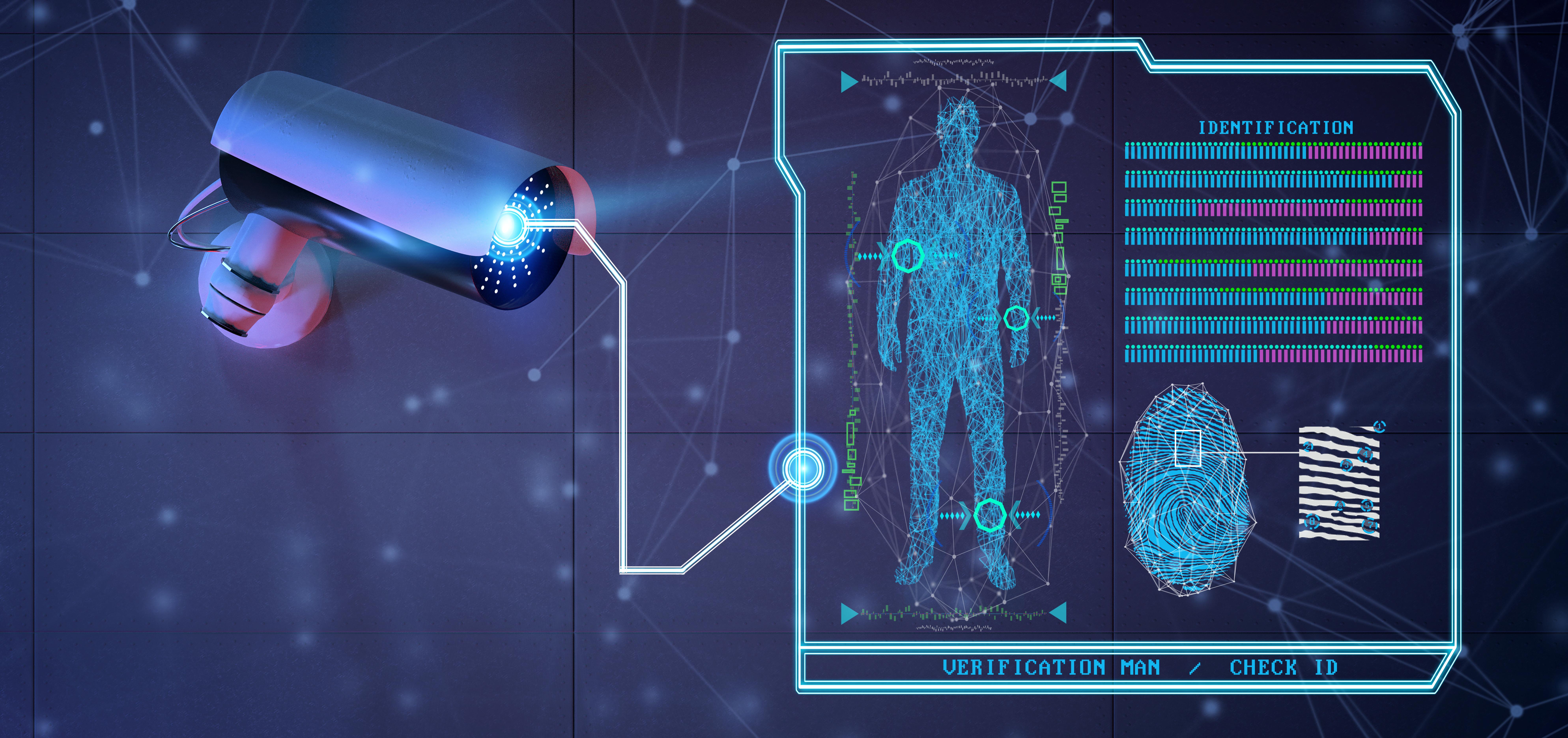 Telecamera con software di riconoscimento biometrico a bordo