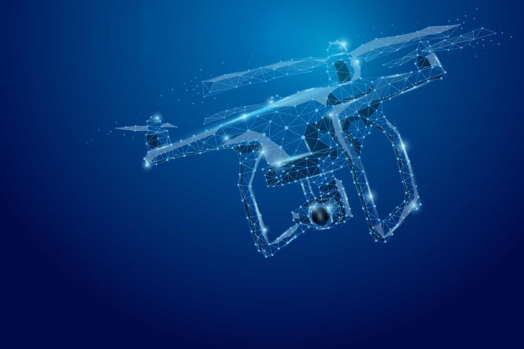 drone con videocamera