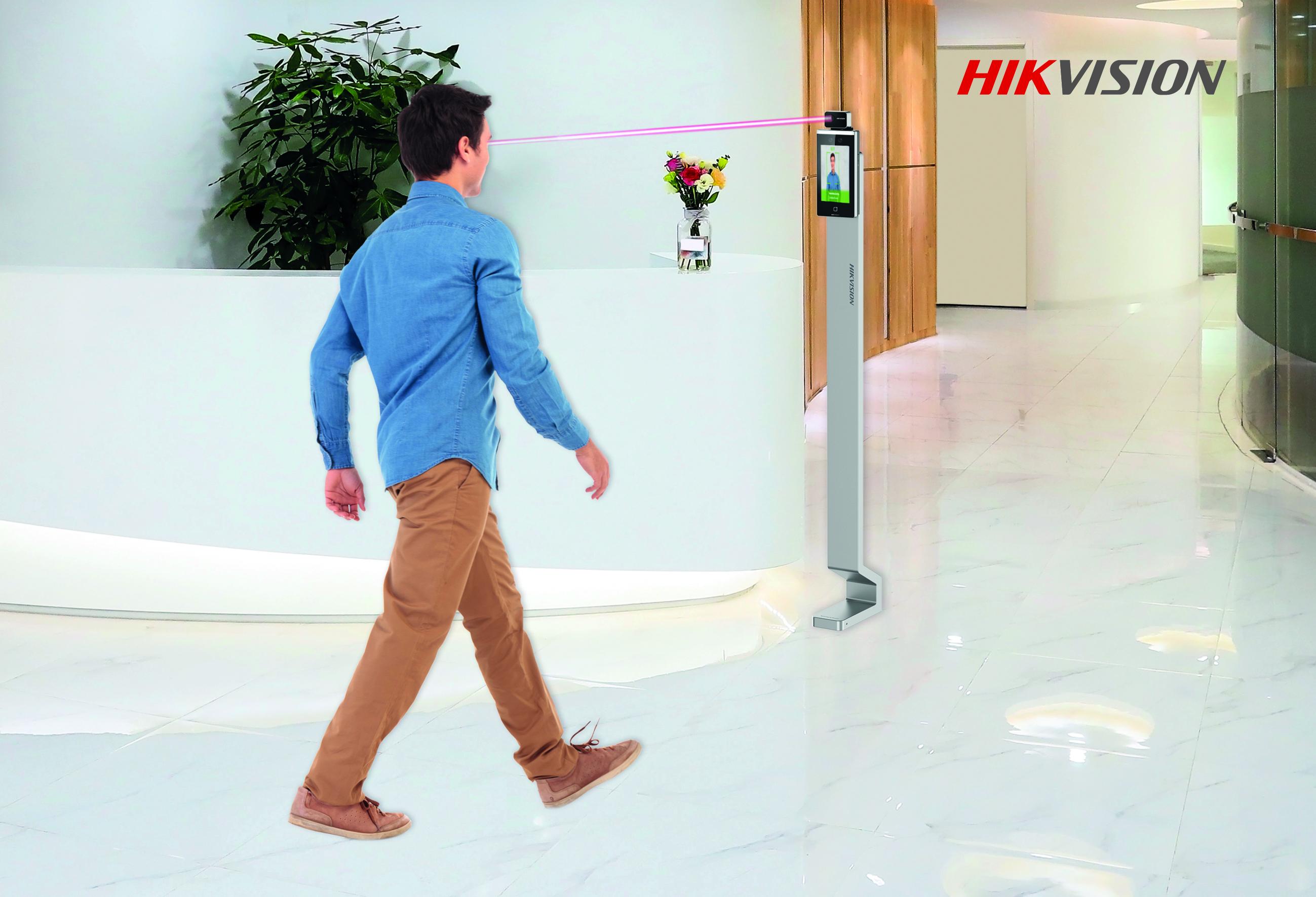 controllo accessi termografico hikvision