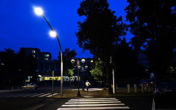 LED relamping illuminazione pubblica esempio
