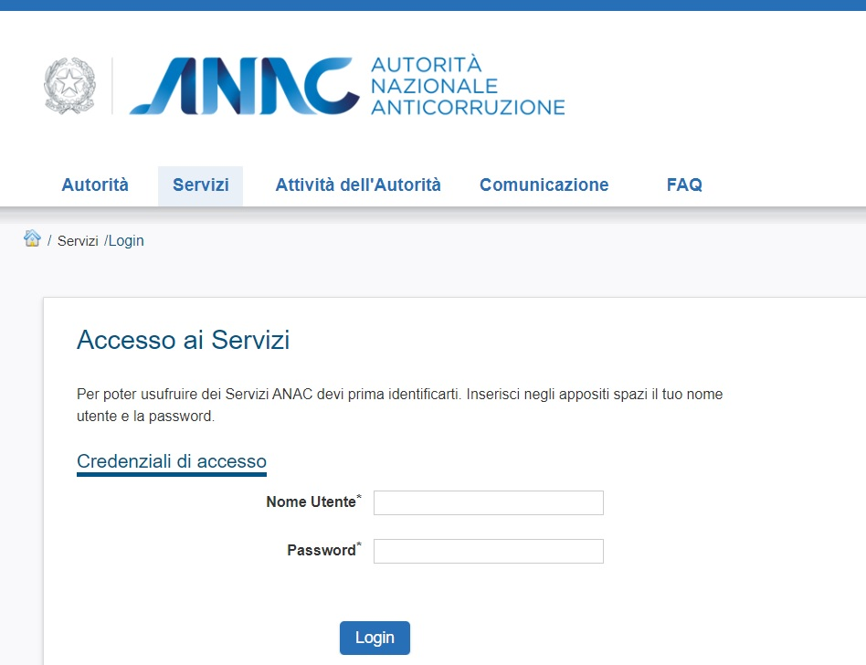 ANAC autorita anti corruzione attestazione SOA elenco app