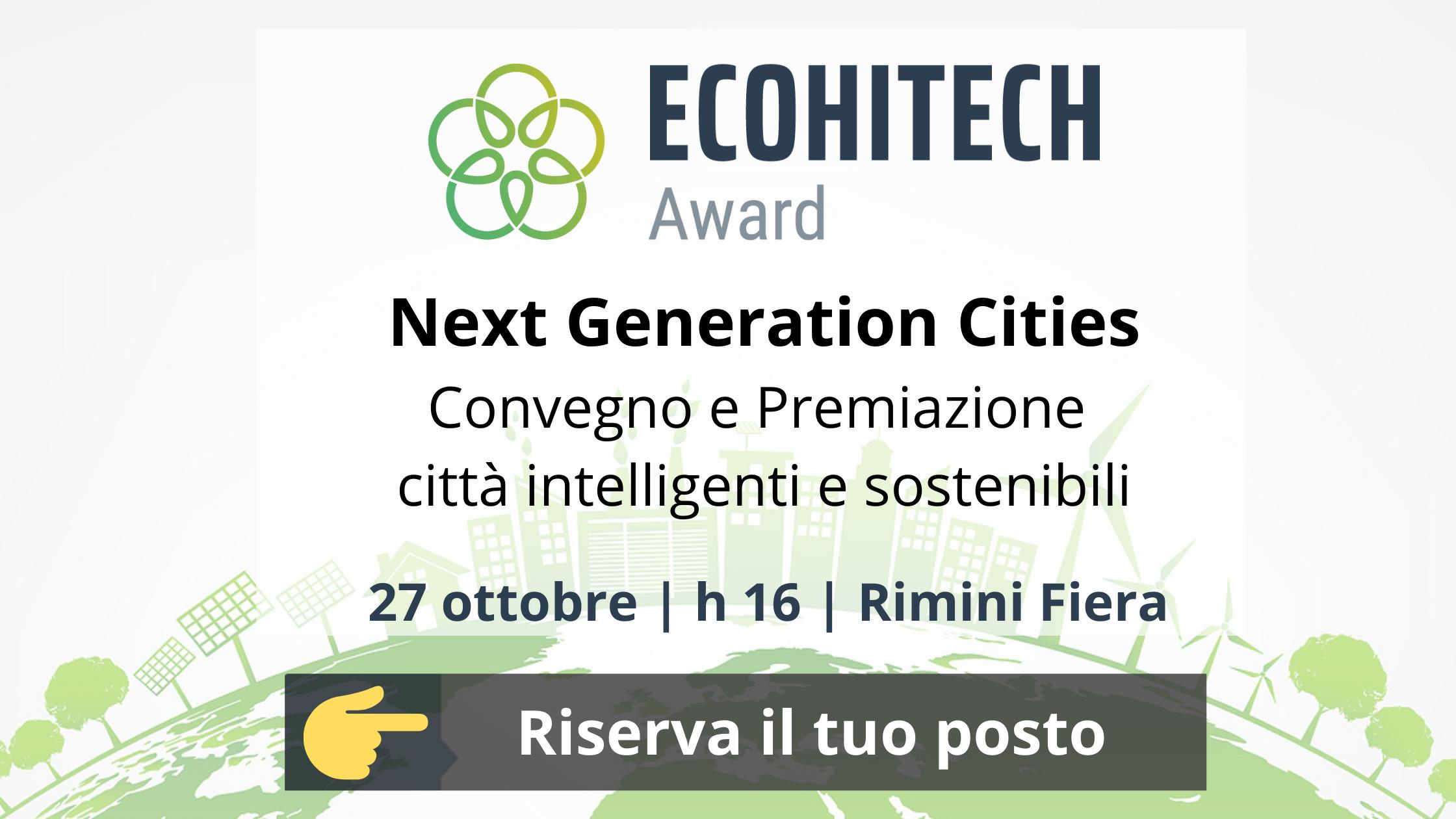 Convegno Ecohitech Award 2021