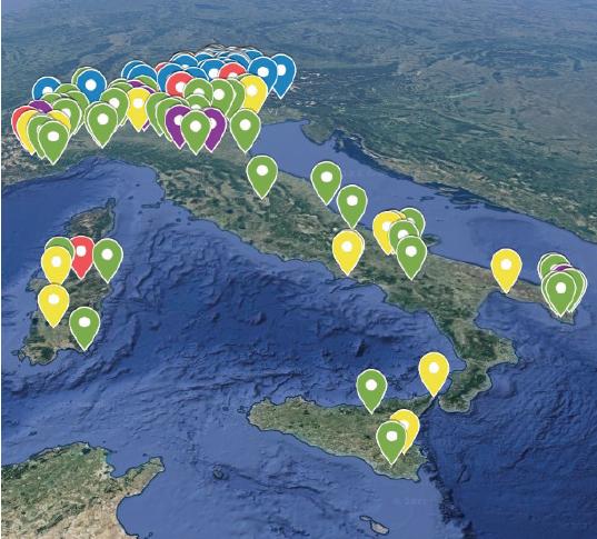 mappa comunita energetiche italia